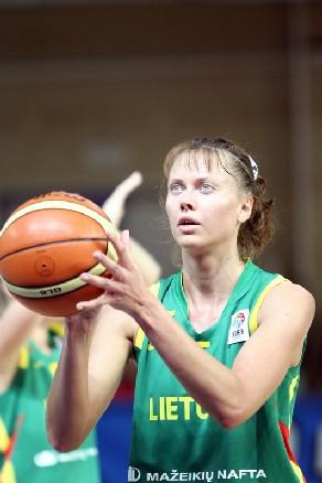 Lina Brazdeikyte, championne d'Europe il y a dix ans, en quarts de finale en 2007 (photo: Basquetebol.org/Ann Dee)