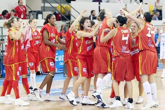 L'enthousiame, un gros atout des Espagnoles (photo: Basquetebol.org/Ann Dee)