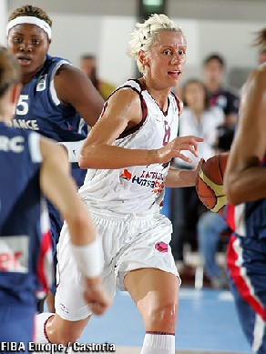 Gunta Basko emmène les Lettones dans le top 4 (photo: FIBAEurope/Castoria)