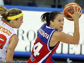 Avec Svetlana Abrosimova, elles sont 5 Russes à 10pts ou plus contre la Lituanie (photo: FibaEurope/Castoria)
