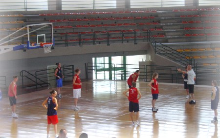 Les Espoirs à l'entraînement jeudi dans la salle de Sulmona (photo: S.Kovaleni)