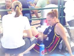 Entorse de la cheville gauche pour Tracy Wittebolle