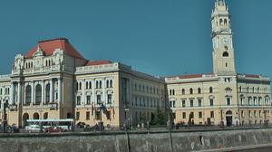 L'hotel de ville d'Oradea. Les photos de l'orphelinat n'étaient pas souhaitées.
