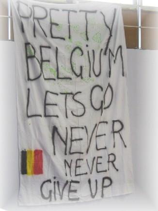 Les supporters belges de Moscou sont à Sofia aussi ! Un solide soutien moral...
