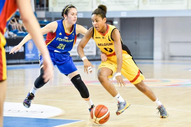 Maxuella Lisowa-Mbaka, qui évoluera à Spirou Monceau cette saison, la plus en vue (photo: FIBA.com)