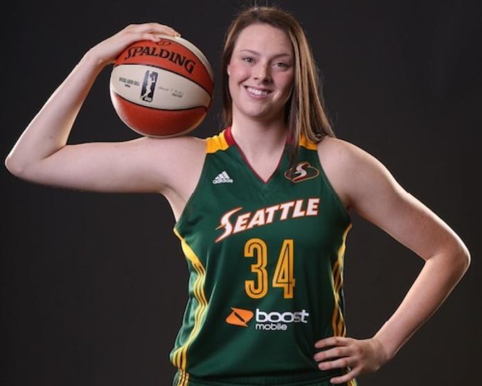 Vicky McIntyre dans le championnat belge (photo: Gazette de la Spezia)
