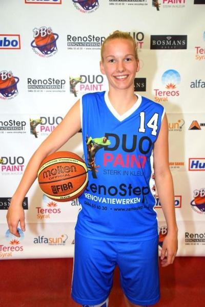 Un nouveau visage au sein de l'élite: Ella Haeck (photo: dbcosirisaalst.sportadministratie.be)