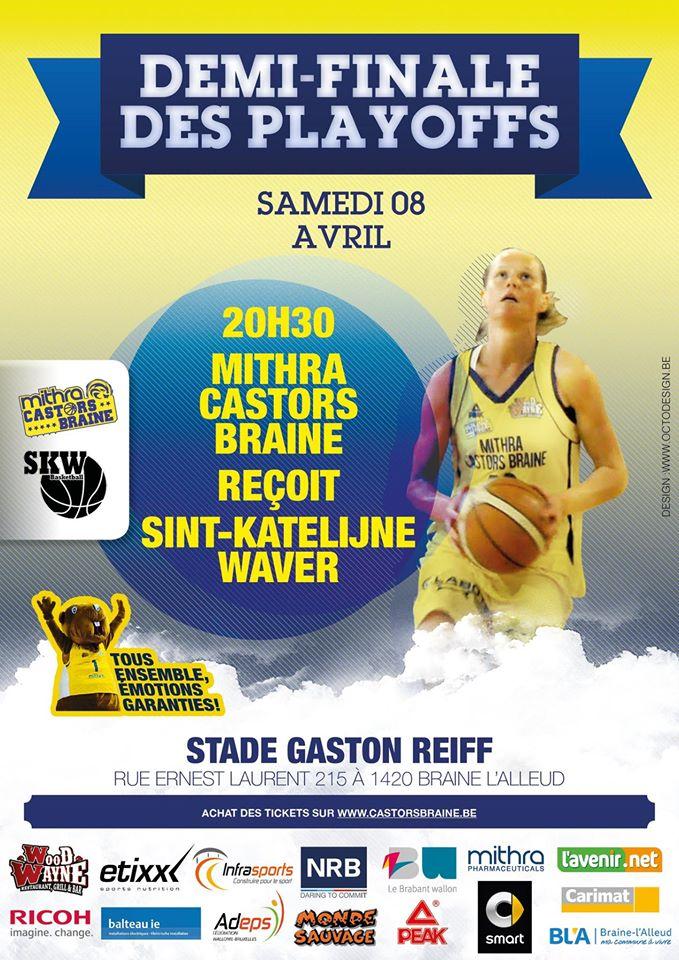 LIVE TV - Play-off - Mithra Castors Braine vs Sint-Katelijne-Waver