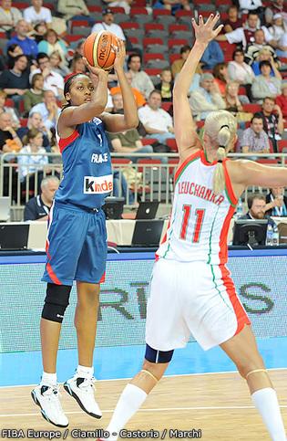 Sandrine Gruda, couronnée pour la première fois (photo: FIBA Europe/Ciamillo Castoria/Marchi)