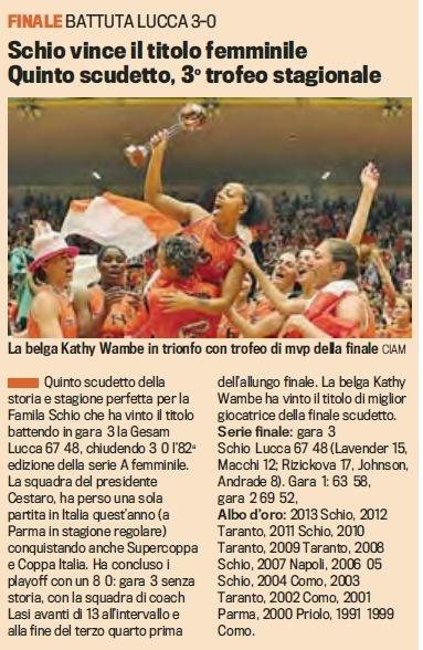 Kathy Wambe super star en Italie