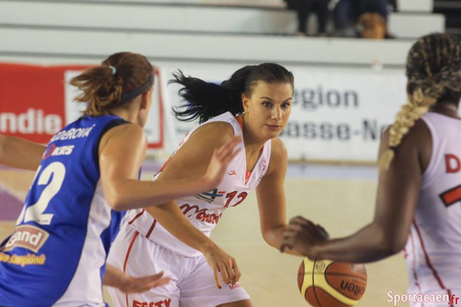 Maja Vucurovic à l'épreuve en France (photo: sportacaen.fr)
