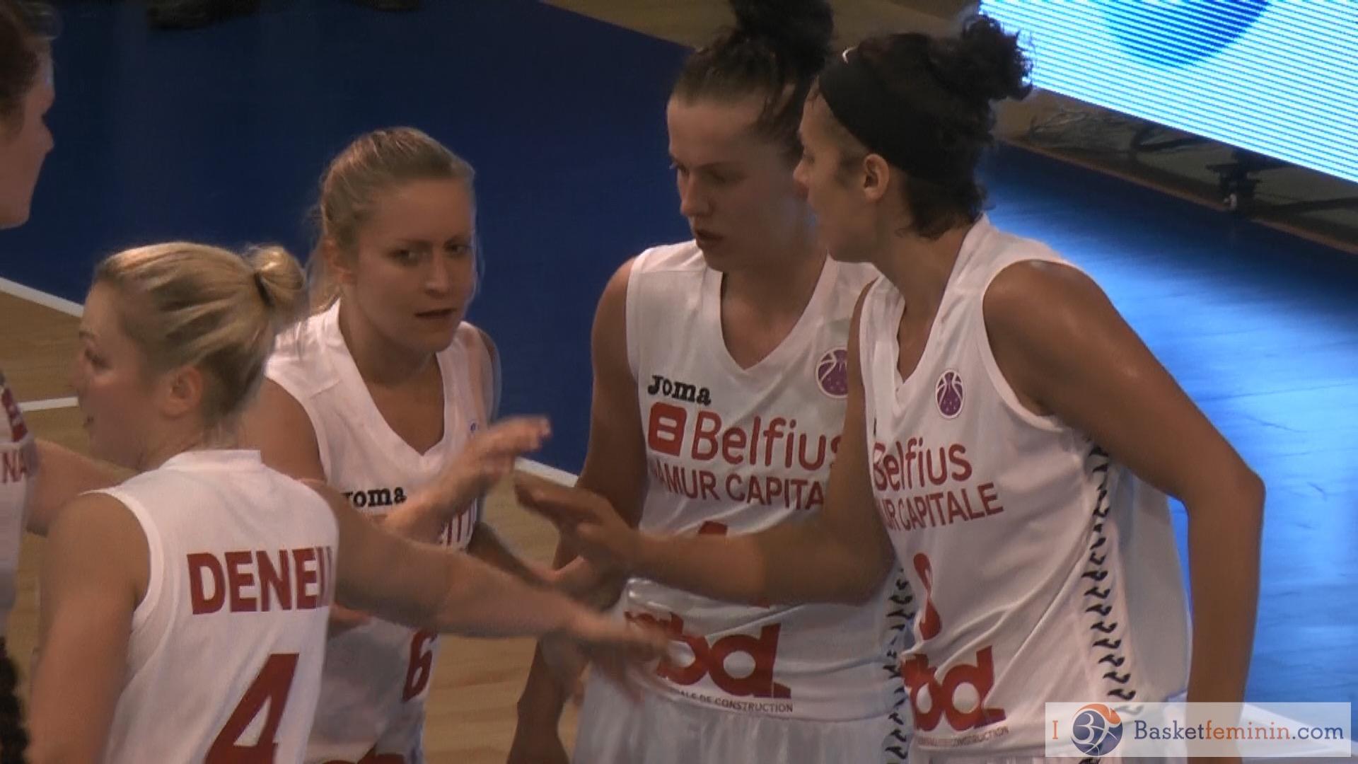 Belfius Namur s'impose en championnat face à Spirou Monceau Baulet 78-61