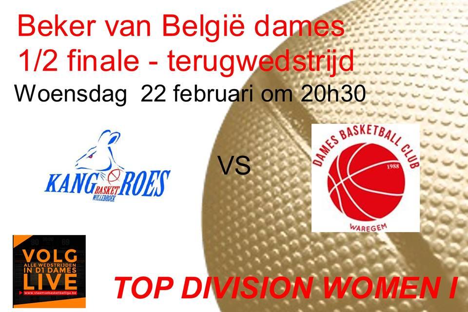 Coupe de Belgique - Les dates de Waregem/Kangoeroes sont connues