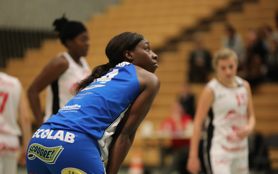 Brittany Starling (Kangoeroes Willebroek), un retour qui a marqué (photo: Eddy Lippens)