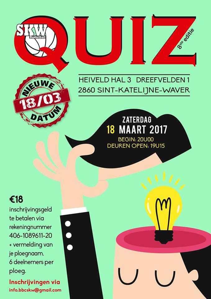Nouvelle date pour le Quizz annuel de SKW, le 18 mars !