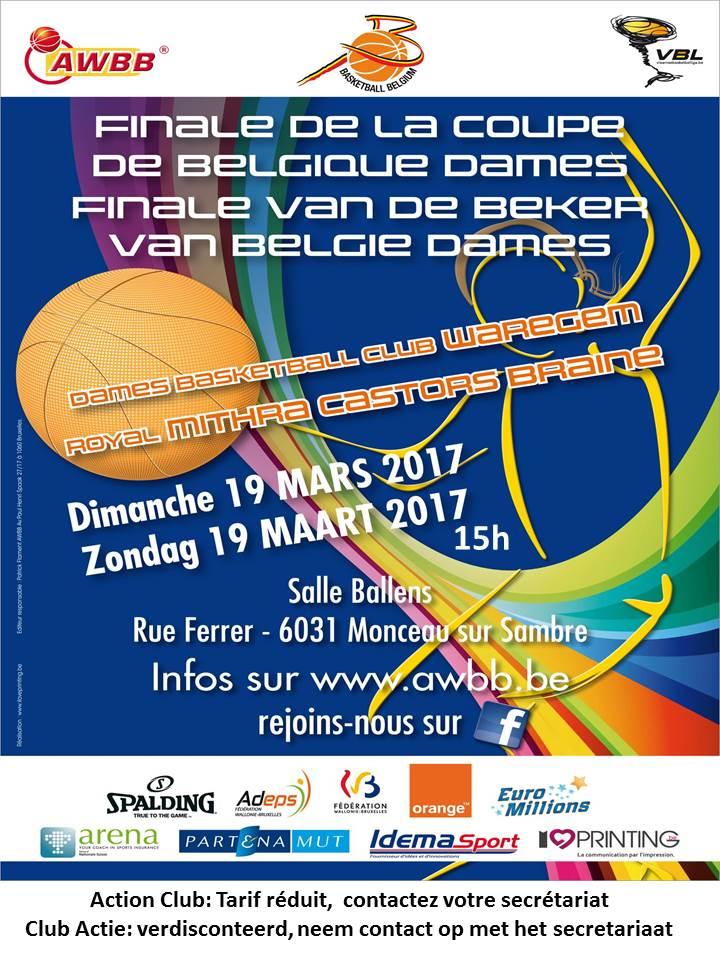 Se procurer des places pour la finale de la Coupe de Belgique le 19 mars