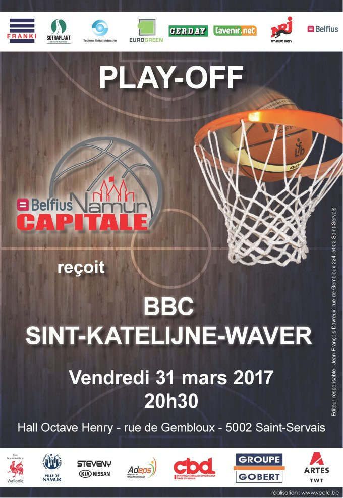 TV - Play-off time - Belfius Namur vs SKW