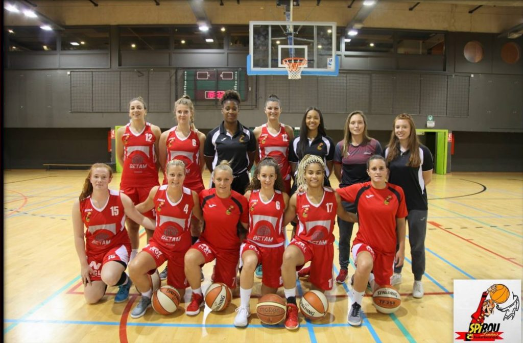 Spirou Ladies Charleroi 2017/2018 (photo: https://www.facebook.com/SpirouLadiesCharleroi/)