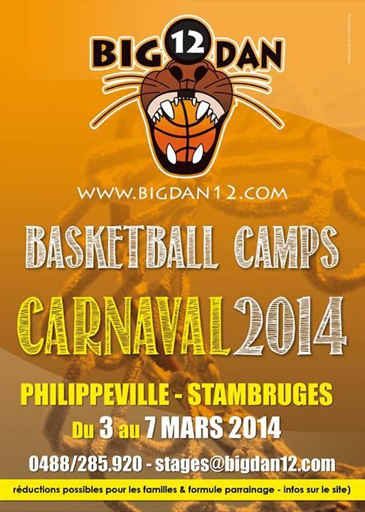 Stages Big Dan 12 - Carnaval 2014 à Philipeville et Stambruges
