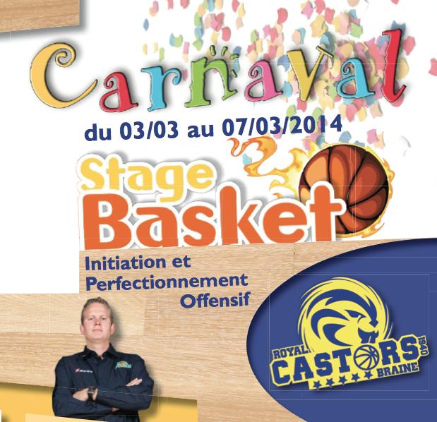 Stage de Carnaval du 3 au 7 mars à Castors Braine sous la direction de Thibaut Petit