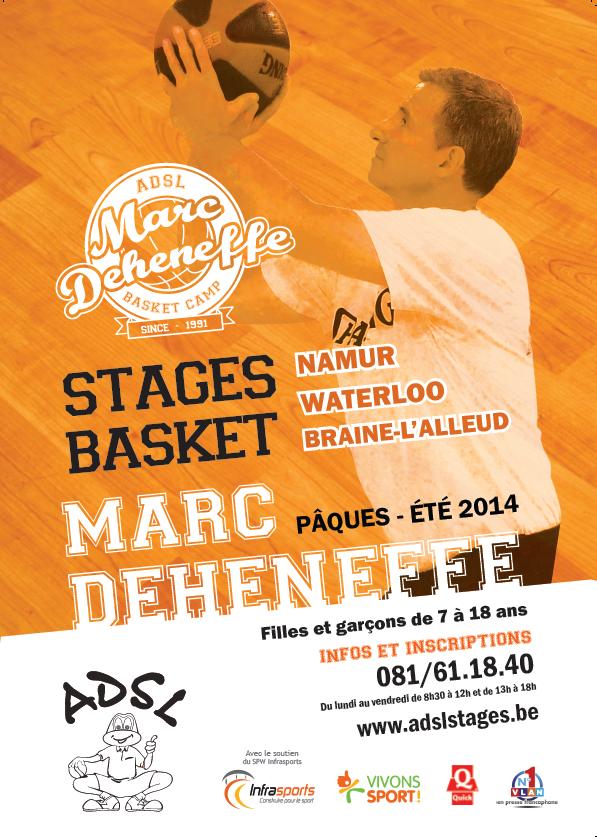 Stage Marc Deheneffe à Malonne à Pâques, du 7 au 11 avril