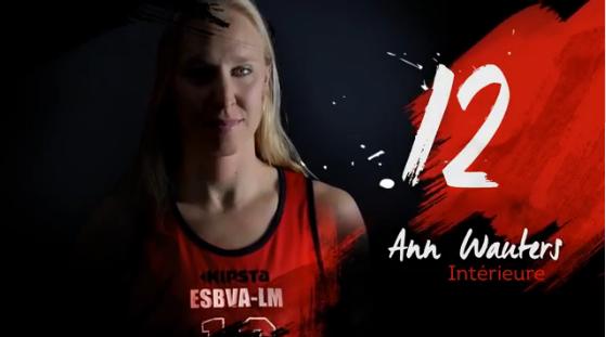 TV - Le clip video de l'ESBVA avec Ann Wauters