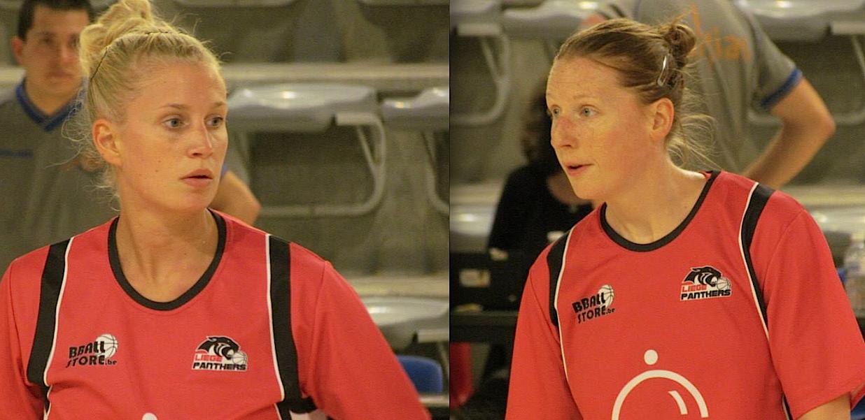 Charlotte Ippersiel et Stéphanie Dubuc les deux recrues (photo: Karhi Defays)
