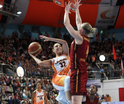 Ann Wauters face à Diana Taurasi (photo: FIBA/Petukhov Andrey)