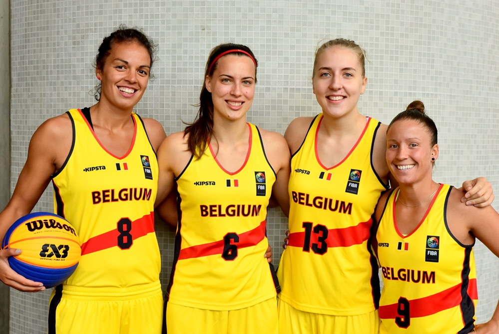 Sofie Hendrickx, Antonia Delaere, Manon Grzesinski et Marjorie Carpréaux (photo: FIBA.com)