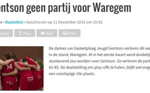 TV - Le reportage à l'issue de la victoire de DS Waregem à Jeugd Gentson (AVS)