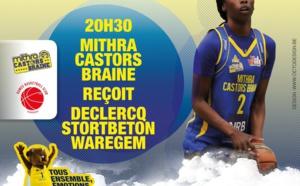 Live TV - Mithra Castors Braine vs Declercq Stortbeton Waregem