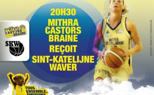 LIVE TV - Play-off - Mithra Castors Braine vs Sint-Katelijne-Waver