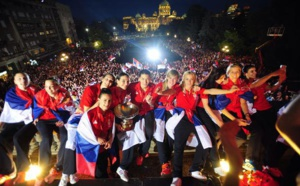 Dix mille personnes sur la place de Belgrade pour les championnes d'Europe