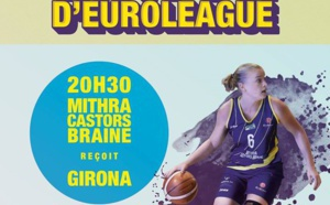 TV Live - Euroligue - Mithra Castors Braine vs Uni Girona (Esp)
