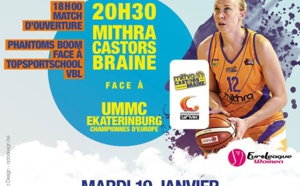 Mithra Castors Braine, face à Eka mardi à la Lotto Arena d'Anvers