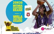 LIVE TV - Euroleague - Mithra Castors Braine vs Wisla Cracovie (Pol)