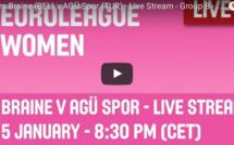 LIVE TV - Euroleague - Mithra Castors Braine vs Agu Spör (Tur) - 68-64